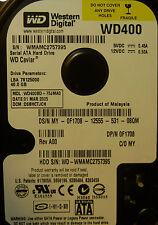 "DELL 0F1708 F1708 Western Digital WD400BD -75 jmao 3.5"" disco fisso SATA hsbhctjch"
