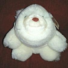 Vtg Gund SNUFF Snuffles 7in White Super Soft Plush Bear 1980 Brown Nose 2151 Tag