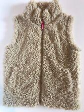 Euc Mini Boden Sz 5 6 Faux Fur Beige Vest So Soft! Zip Up