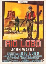 RIO LOBO Italian 4F movie poster 55x79 JOHN WAYNE HOWARD HAWKS WESTERN 1970