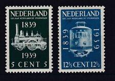 Echte Briefmarken aus den Niederlanden & Kolonien mit Eisenbahn-Motiv
