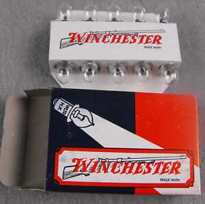 LOT OF 10 WINCHESTER PR3 3.6V .5A MINIATURE LIGHT BULB LAMPS FOR FLASHLIGHTS NOS