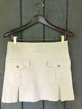 Chaiken Mini Khaki Skirt With Pockets