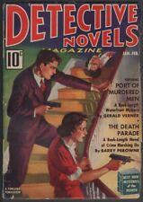 Detective Novels 1938 January-February, #1.   Pulp