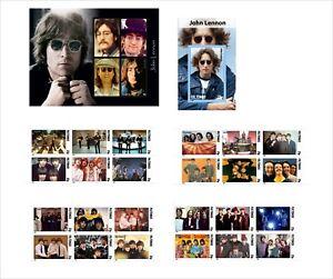 JOHN LENNON BEATLES MUSIC 6 BLOCKS MNH UNPERFORATED music art