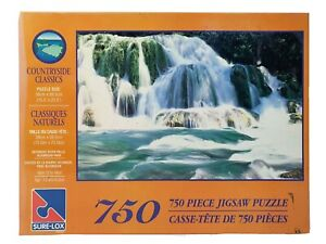 Sure-Lox Jigsaw Puzzle Countryside Classics Oxtongue River Falls 750pc 39x60cm