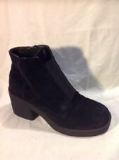 Asos Black Ankle Suede Boots Size 6