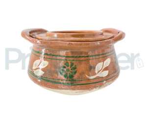 Clay Cooking Pot Handi Biryani Chicken Open Fire Gas Top 2l and 6 Lt With Lid