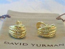 David Yurman  THOROUGHBRED    Earrings  24.7 gr 18k Yellow Gold