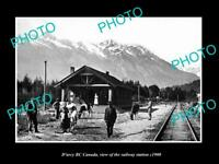 OLD LARGE HISTORIC PHOTO OF D'ARCY BC CANADA, THE RAILWAY STATION c1900