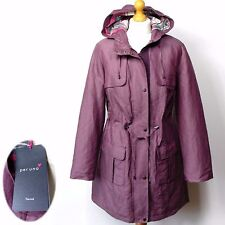 New PER UNA Thermal Quilted HOODED PARKA Jacket ~ Size 8 ~ DUSKY PINK (rrp £89)