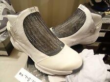 Nike Air Jordan XIX 19 WHITE CHROME FLINT GREY BLACK SILVER 307546-102 SZ 11.5
