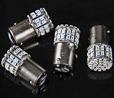 4x BAY15D 1157 Amber Car Tail Stop Brake Light Super Bright 50 SMD LED Bulb 12V