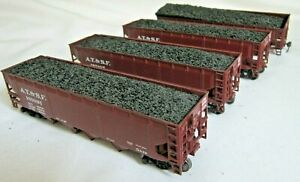 Athearn HO Scale Lot of 4 A.T.S.F. 40' Hopper Cars