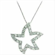 """925 Silver Celebrity Inspired Star Pendant Necklace with Free 18"""" Chain"""