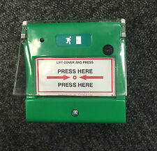 Door Access Control Emergency Break Glass Call Point With Clear Cover Resettable