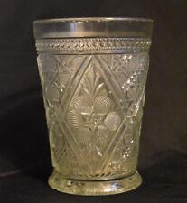 EAPG Tumbler Creole aka Cosmos & Cane Indiana Glass 1915 Antique
