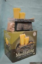 Lighted Meditating Fountain Table Top Center Piece LED Candle Battery Op SAND