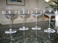 WEDGWOOD CRYSTAL WINE GLASSES x 4 EX.CON LOVELY