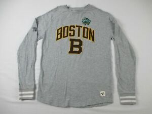 Boston Bruins Fanatics Long Sleeve Shirt Men's Gray Cotton Used M
