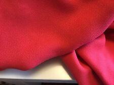 """NEW Designer Crimson Red European 100% Cotton Crepe Suiting Fabric 52"""" 133cm"""