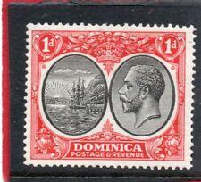 Dominica GV 1923-33 1d  black & scarlet sg 73 H.Mint