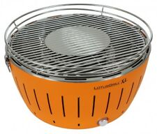 LotusGrill Holzkohlegrill XL 40,5cm Lotus Grill mit Elektrolüfter, Orange