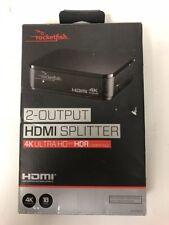 NEW Rocketfish 4K HDMI Splitter 4K Ultra HD and HDR Compatible - RF-G1603