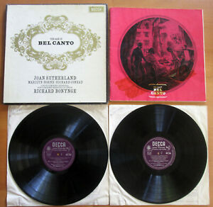 MET 268-9 The Age Of Bel Canto SIGNED Joan Sutherland & Marilyn Horne Decca 2xLP