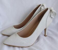 Zapatos de Novia Zapatos de Tacón Danza con Brillo Y Lazo Detrás - R-214