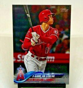 2018 Topps Update Series MLB Baseball 3-Game HR Streak Shohei Ohtani RC Angels