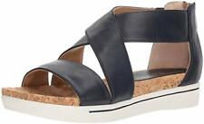 NEW Adrienne Vittadini Sports AV-Claud Black Leather Sandal, Women Size 9.5, $89