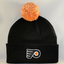 Philadelphia Flyers NHL Zephyr Cuffed Knit Pom Hat Black