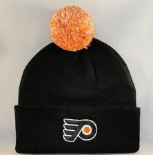 Philadelphia Flyers NHL Zephyr Cuffed Knit Pom Hat Black