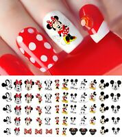 Mickey Mouse & Minne Mouse Nail Art Decals - Salon Quality! Disney