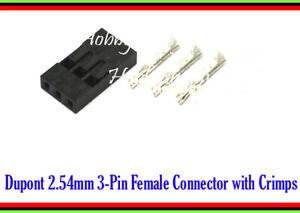 Dupont 2.54mm 3-Pin Jumper Connector Socket plug male Terminal Crimp Pin 100 set