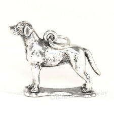 Labrador Retriever charm Dog Lab Charm Pendant solid 925 Sterling Silver 3D .925