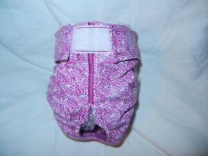 Female Dog Puppy Pet Diaper Washable Pants Sanitary Underwear ROSETTES MEDIUM