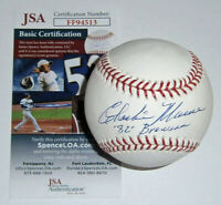 BREWERS Charlie Moore signed baseball w/ 1982 Brewers JSA COA AUTO Autographed