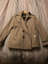 Diesel Double Breasted Wool Peacoat Size Small