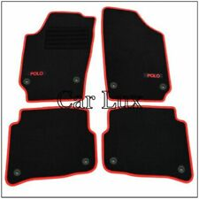 Velluto-Tappetini per VW Polo 9n//9n3 2001-round clip