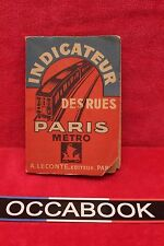 L'indicateur des rues Paris Métro - 1948