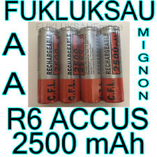 20 x PILES AA | PILES ACCUS RECHARGEABLE MIGNON 2500mAh Ni-MH 1,2V R6 LR6 - PRO
