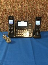 Panasonic KX-TG9542B 2 Handset Cordless Phone W/link to Cell