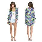 New Women Floral Loose Shawl Kimono Boho Chiffon Cardigan Coat Jacket Stylish