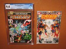 Crisis on Infinite Earths #1 CGC 9.4! BONUS reprint in MYLAR 12pix Ships INSURED