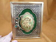 Cfl10-10) Framed Cameo Man Woman Couple Dancing Victorian brass desk shelf wall