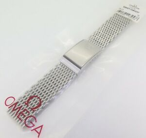 .Auth Omega Shark Mesh Steel 20mm Watch Bracelet 1380/237 - 020ST1380237 -