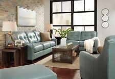 Ashley O'Kean Leather Sky Sofa and Loveseat Furniture 59103