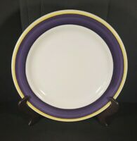"Vintage Homer Laughlin USA Restaurantware Dinner Plate 9 5/8"" Purple Yellow"